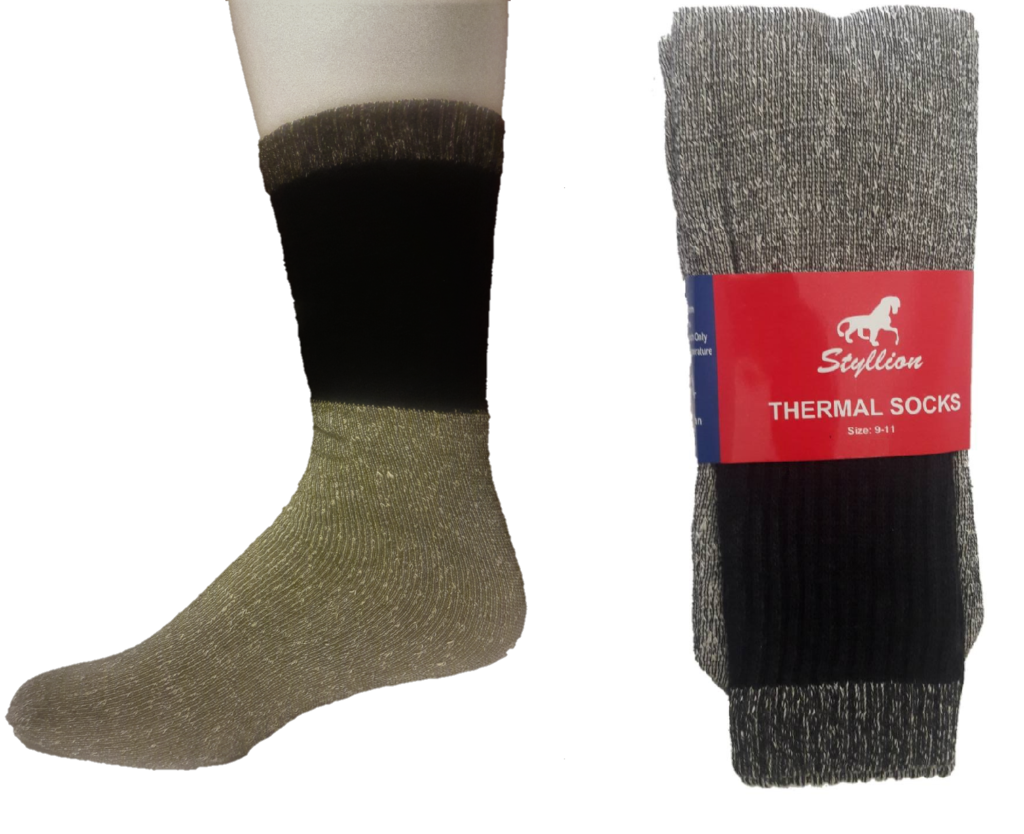 Thermal Socks – Black/Gray ($6.00/dz)