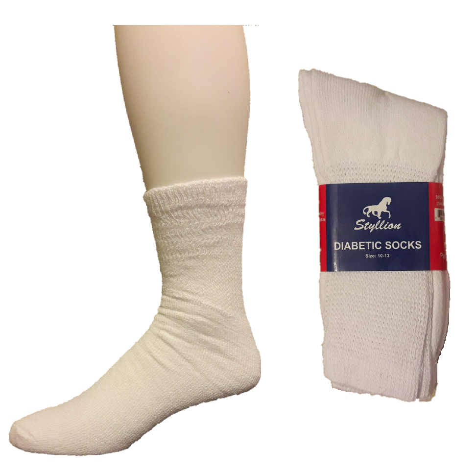 Diabetic Socks – White ($6.00/dz)
