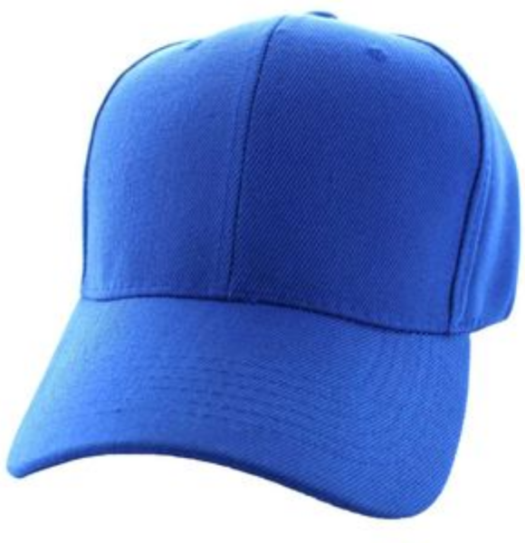 Solid Baseball Cap – Royal Blue ($15.00/dz)