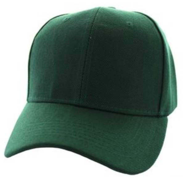 Solid Baseball Cap – Dark Green ($15.00/dz)