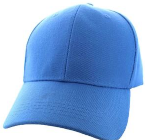 Solid Baseball Cap – Light Blue ($15.00/dz)