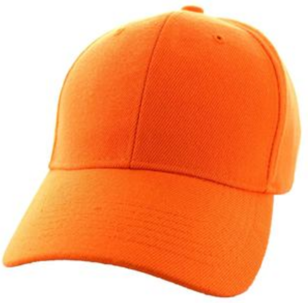 Solid Baseball Cap – Orange ($15.00/dz)