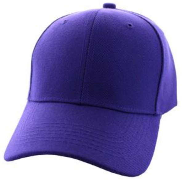 Solid Baseball Cap – Purple ($15.00/dz)