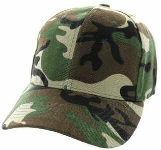 Solid Baseball Cap – Camo ($15.00/dz)