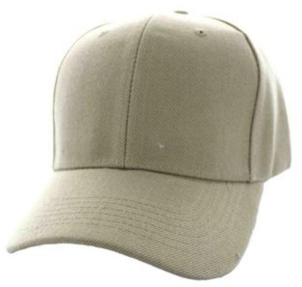 Solid Baseball Cap – Khaki ($15.00/dz)
