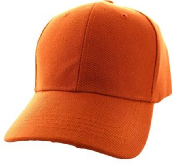 Solid Baseball Cap – Texas Orange ($15.00/dz)