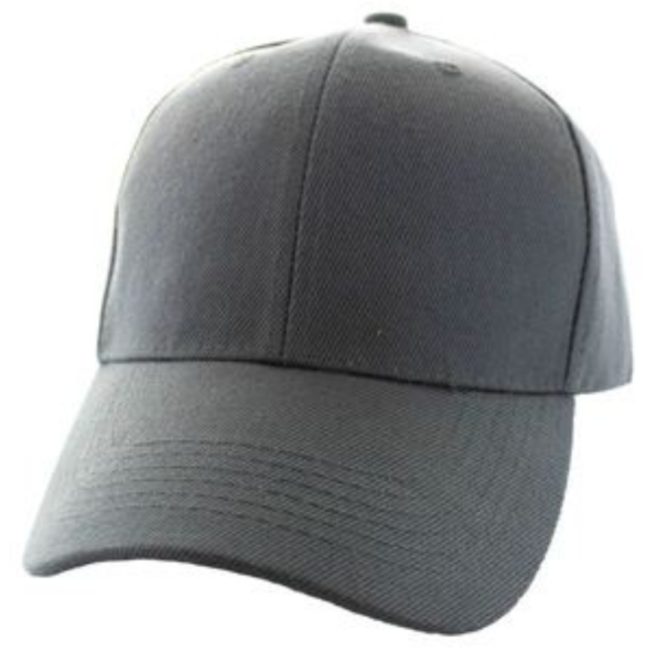 Solid Baseball Cap – Dark Gray ($15.00/dz)