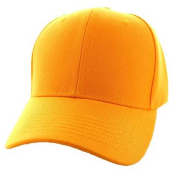 Solid Baseball Cap – Gold ($15.00/dz)