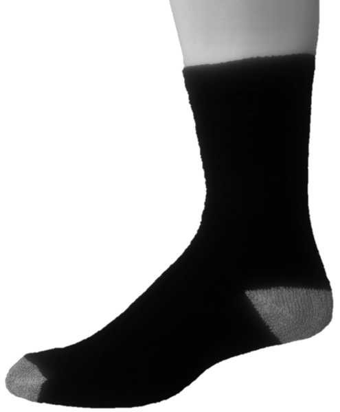 Cotton Crew Socks – H/T – Black & Gray ($4.00/dz)