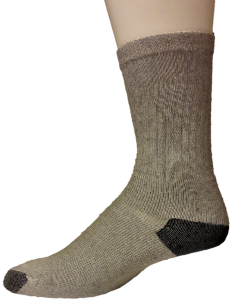 Cotton Crew Socks – H/T – Gray & Black ($4.00/dz)